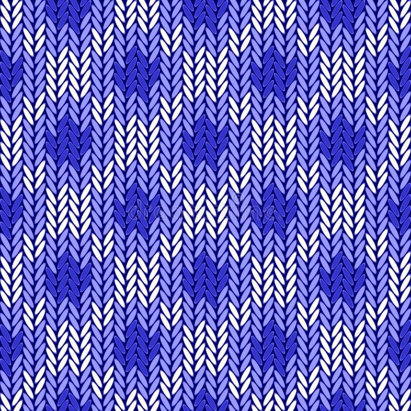 Ontwerp naadloos kleurrijk geometrisch gebreid patroon stock illustratie