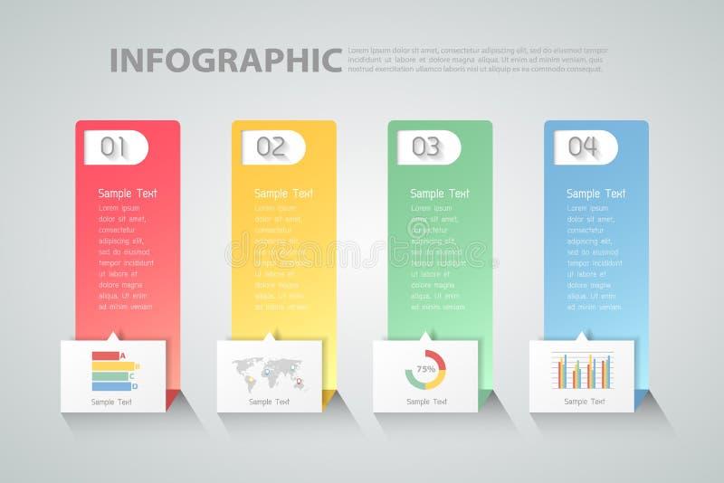 Ontwerp schoon malplaatje Infographic kan voor werkschema, lay-out, diagram worden gebruikt vector illustratie