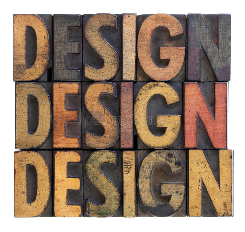 Ontwerp - uitstekende houten typografie royalty-vrije stock afbeelding