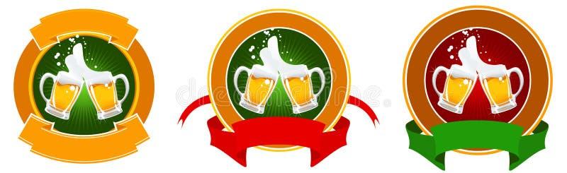 Ontwerp van bieretiket royalty-vrije illustratie