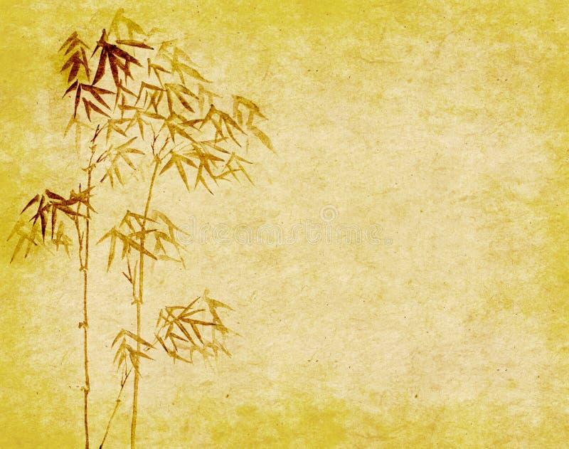 Ontwerp van Chinese bamboebomen met textuur vector illustratie