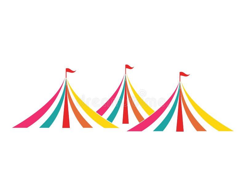 Ontwerp van de circus het vectorillustratie royalty-vrije illustratie