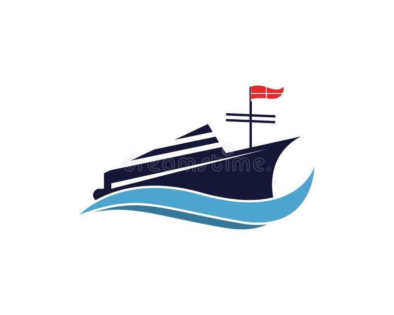 Ontwerp van de het pictogramillustratie van het cruiseschip het vector royalty-vrije illustratie
