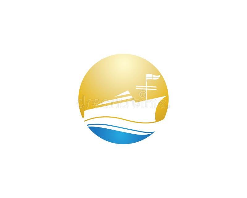 Ontwerp van de het pictogramillustratie van het cruiseschip het vector vector illustratie