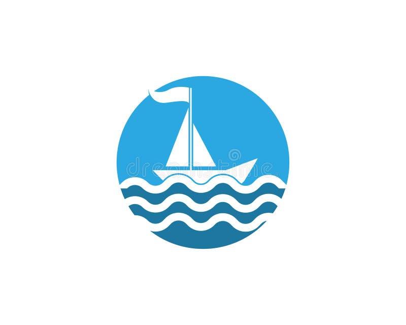 Ontwerp van de het pictogramillustratie van het cruiseschip het vector stock illustratie