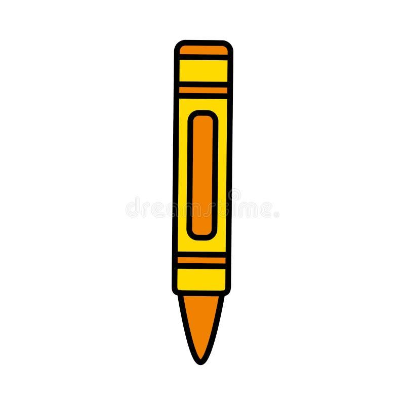 Ontwerp van de het potloodkunst van het kleuren het aardige kleurpotlood stock illustratie