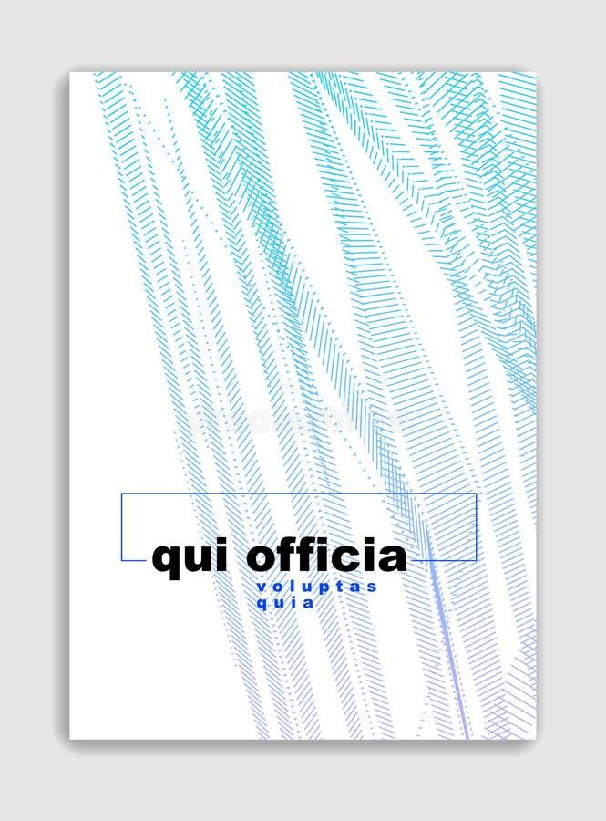 Ontwerp van de kunst het lineaire vector minimalistic in brochure, dekkingsmalplaatje, geometrische halftone gradi?nt Voor Banner royalty-vrije illustratie