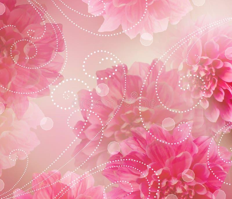 Ontwerp van de Kunst van bloemen het Abstracte. Bloemen Achtergrond stock illustratie