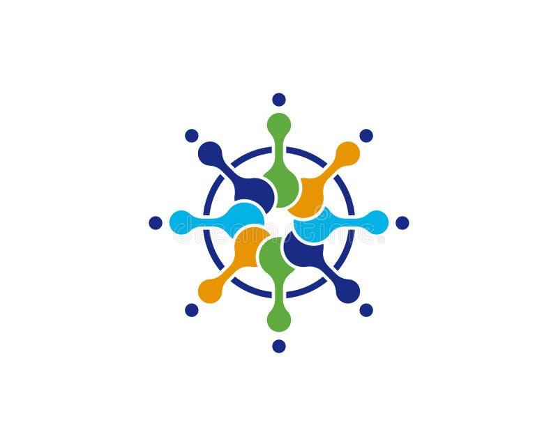 Ontwerp van de molecule het vectorillustratie stock illustratie