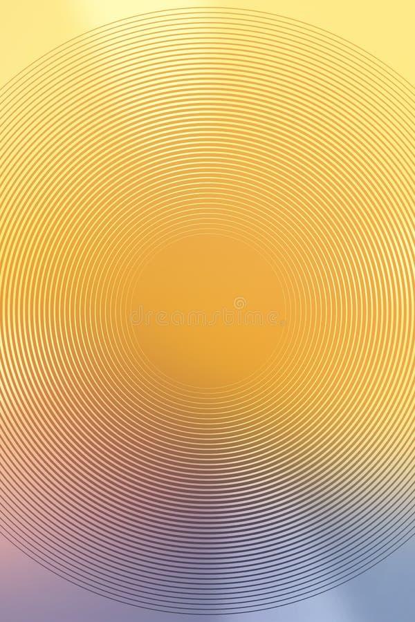 Ontwerp van de onduidelijk beeld het gele abstracte achtergrond glanzende radiaal royalty-vrije illustratie