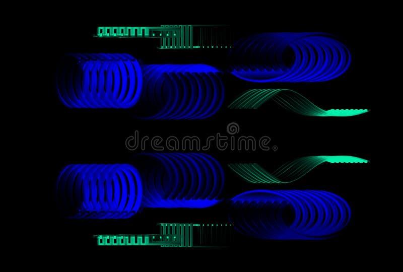 ontwerp van de patronen van het Desktopbehang stock illustratie