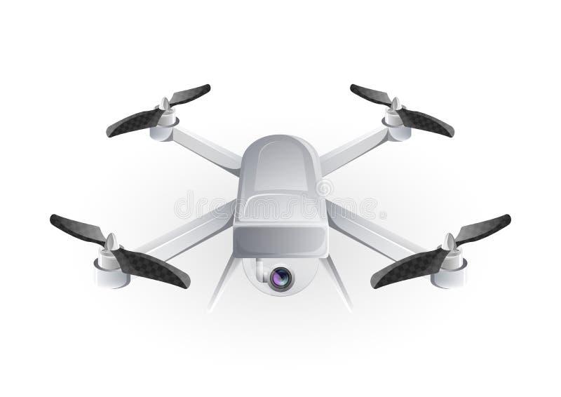 Ontwerp van de vector van de hommelhelikopter vector illustratie