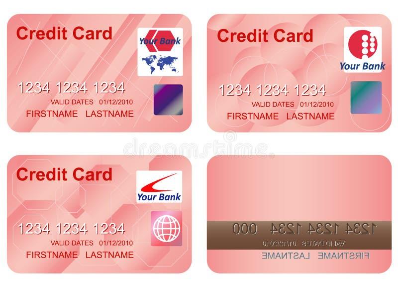Ontwerp van een creditcard. vector illustratie