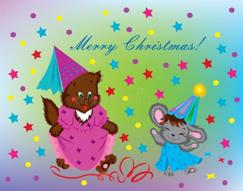 Ontwerp van een de groetkaart van Kerstmis. stock foto's
