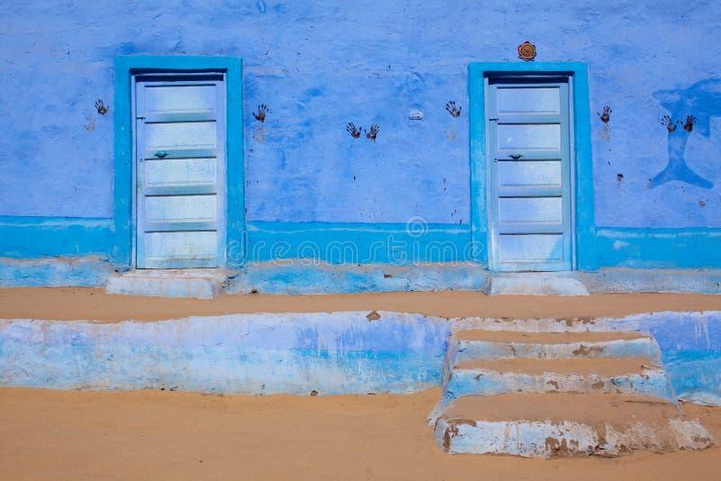 Ontwerp van een huis Nubian stock foto