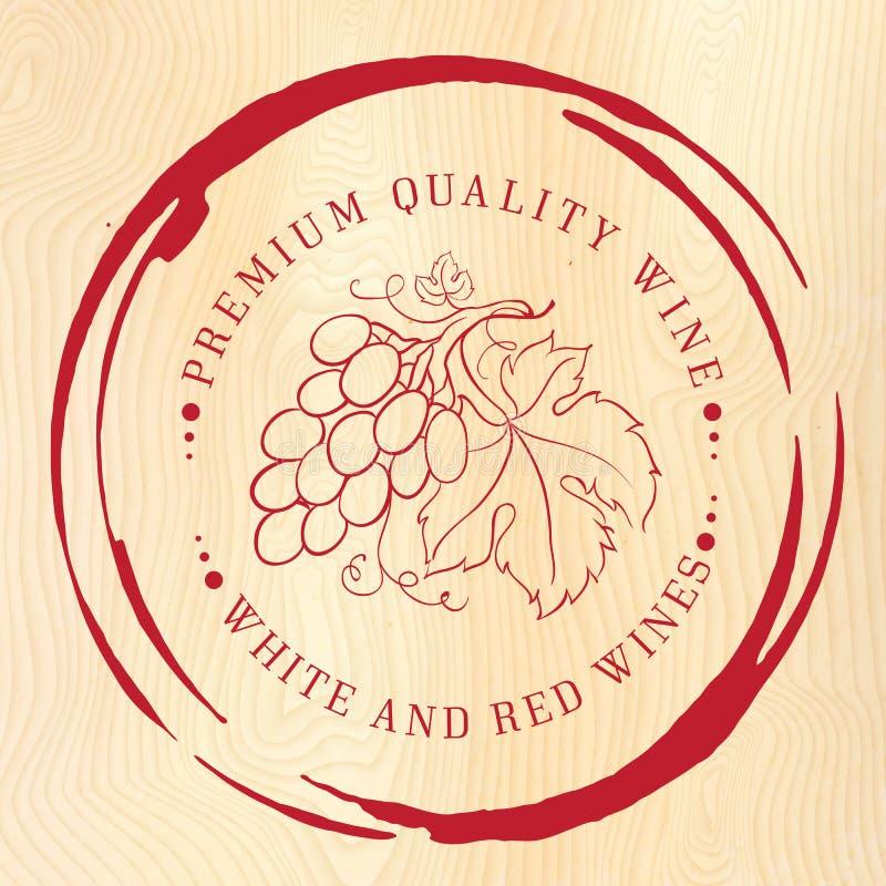 Ontwerp van etiket voor wijn vector illustratie