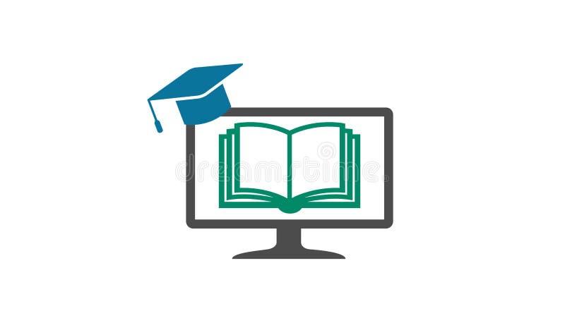 Ontwerp van Garduation GLB van het boek het Online Scherm stock illustratie