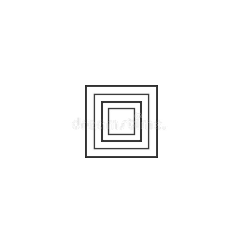Ontwerp van grenslijn vector illustratie