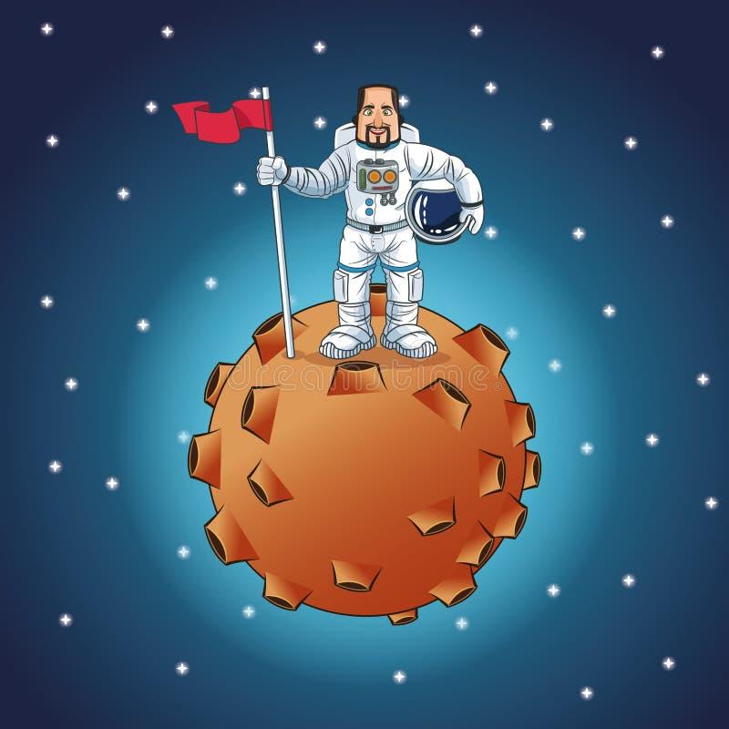 Ontwerp van het astronauten het ruimtebeeldverhaal vector illustratie