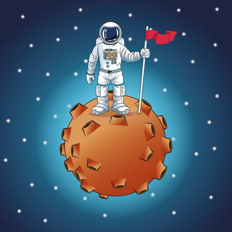 Ontwerp van het astronauten het ruimtebeeldverhaal stock illustratie