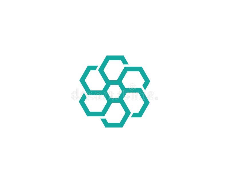 Ontwerp van het bedrijfs het collectieve abstracte eenheids vectorembleem royalty-vrije illustratie