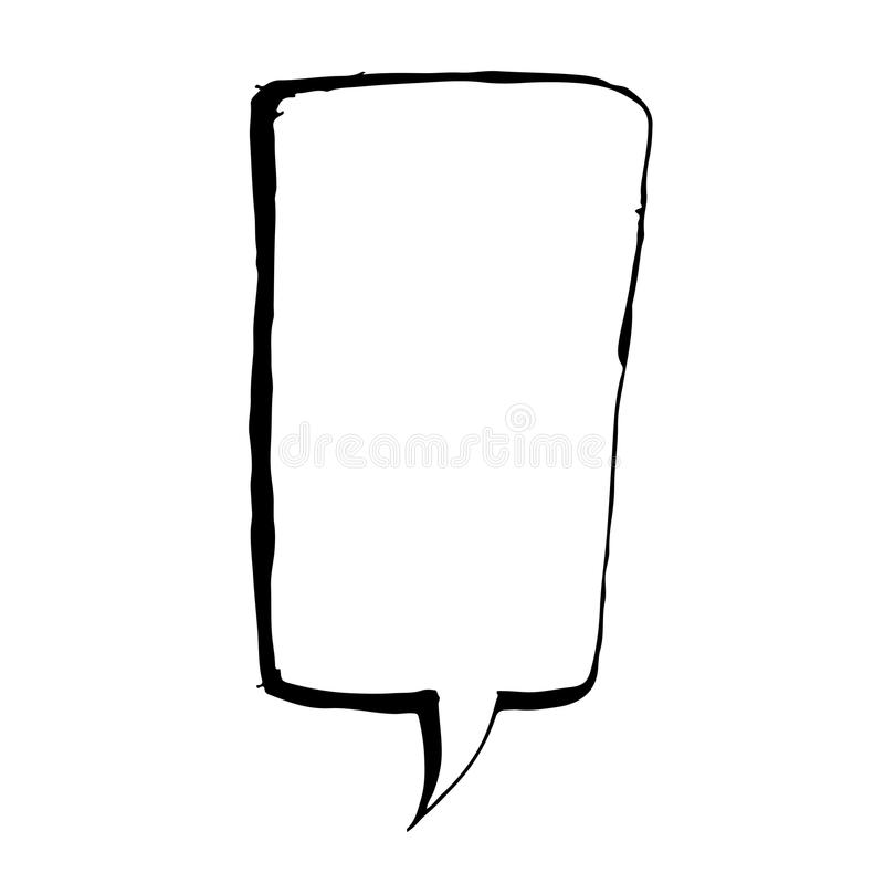 Ontwerp van het de Illustratiesymbool van de toespraakbel het hand getrokken vector illustratie