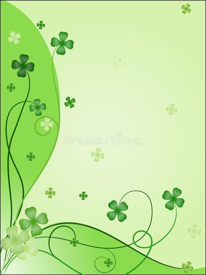 Ontwerp van het groen maken van kaart aan st. Patrick `s dag stock illustratie
