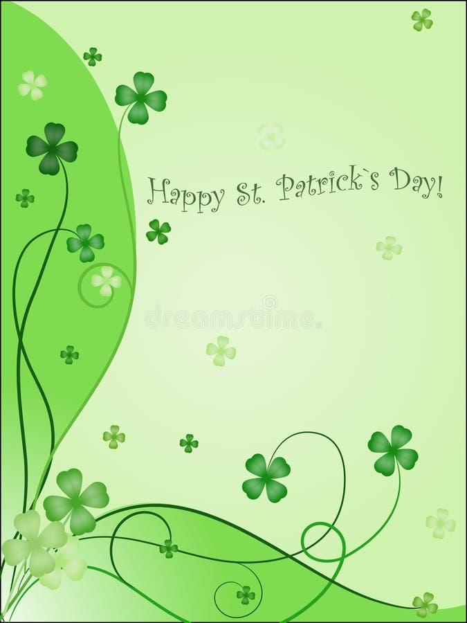 Ontwerp van het groen maken van kaart aan st. Patrick `s dag vector illustratie