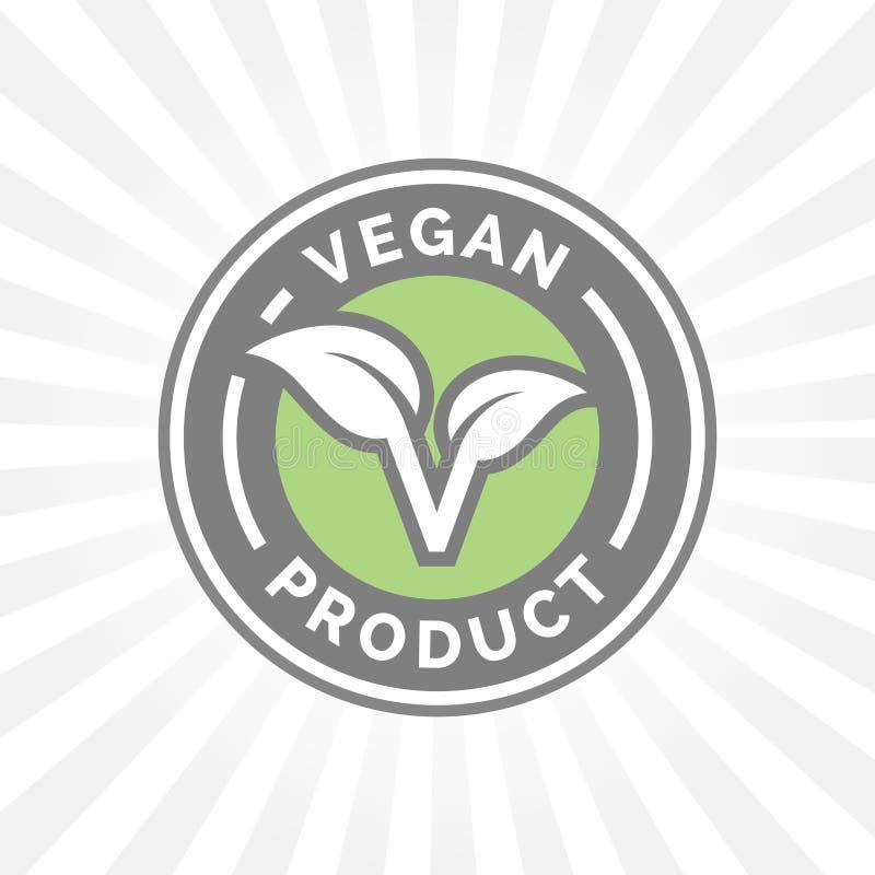Ontwerp van het het pictogramkenteken van het veganist het vriendschappelijke voedsel Vector illustratie stock illustratie