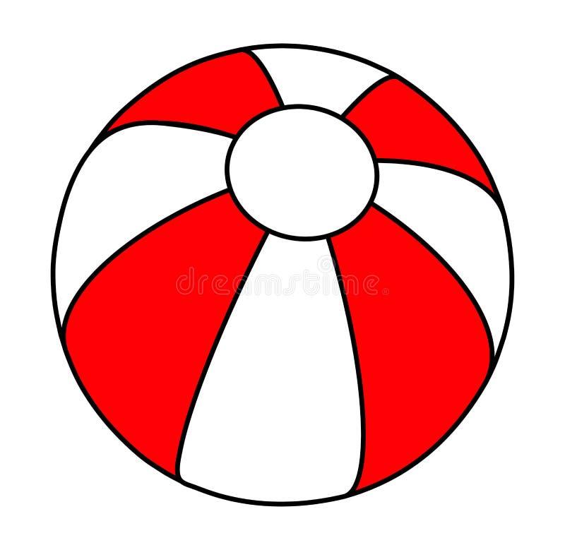 Ontwerp van het het symboolpictogram van de strandbal het vector royalty-vrije illustratie