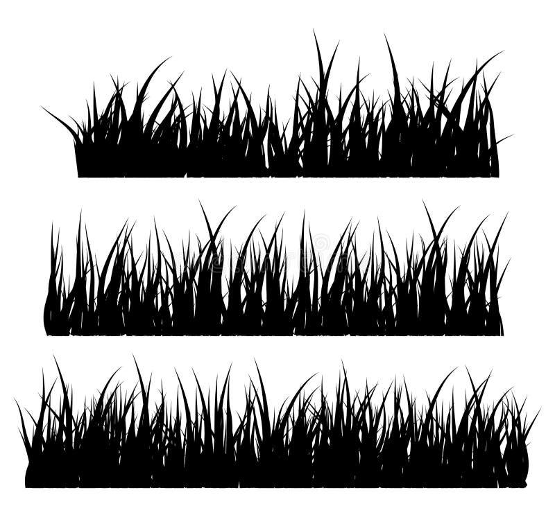 Ontwerp van het het symboolpictogram van het grassilhouet het vector vector illustratie