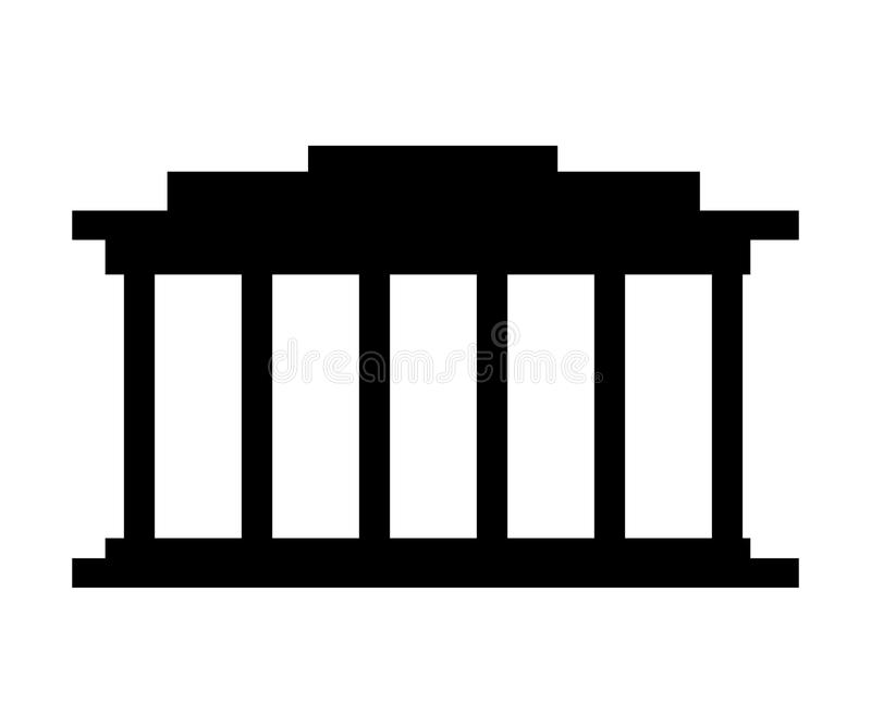 ontwerp van het hof het de bouw geïsoleerde pictogram vector illustratie