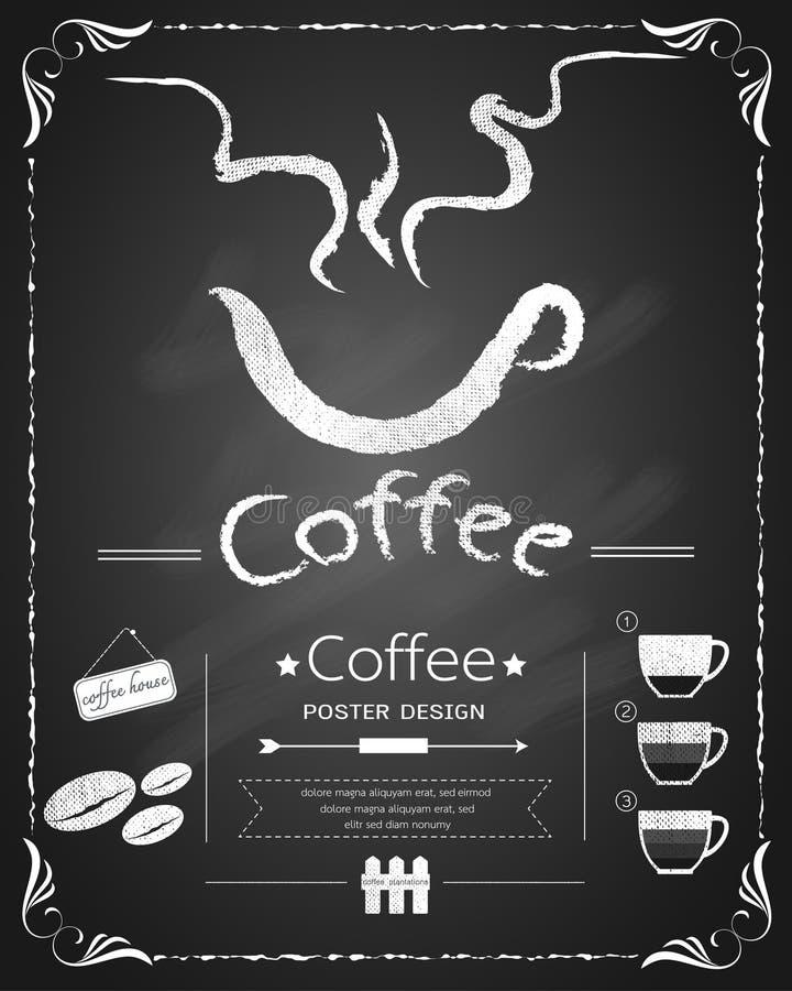 Ontwerp van het koffie retro bord vector illustratie