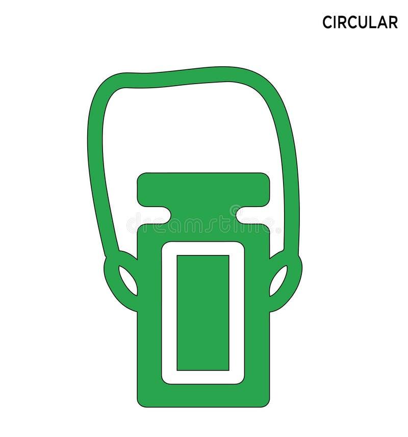 Ontwerp van het het pictogram het editable symbool van de waterfles stock illustratie