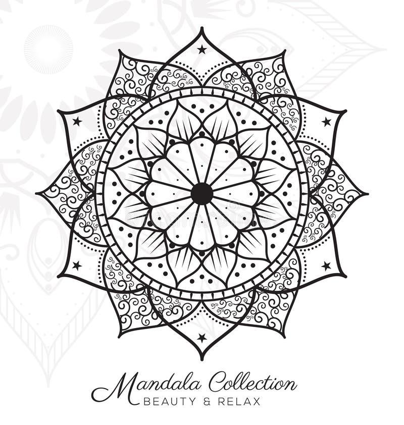 Ontwerp van het Tibetaanse mandala het decoratieve ornament royalty-vrije illustratie