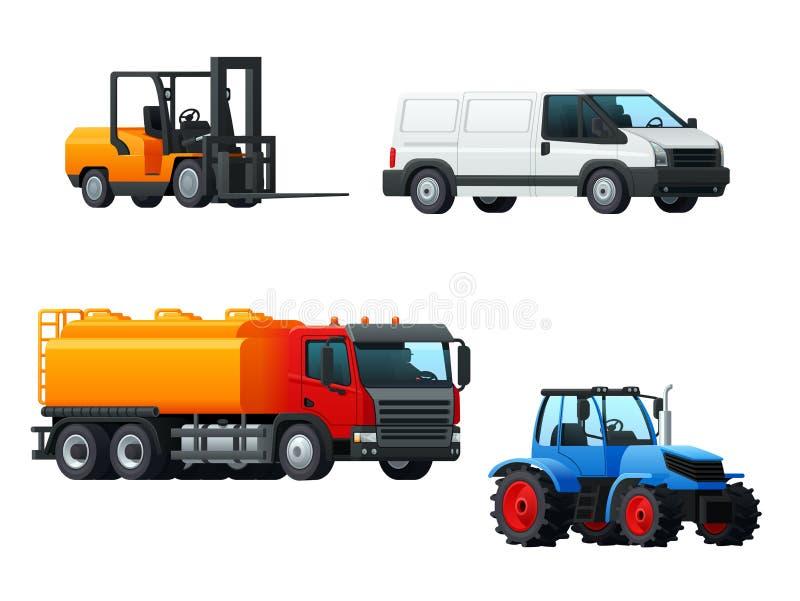 Ontwerp van het vervoers 3d pictogram met wegvervoer vector illustratie