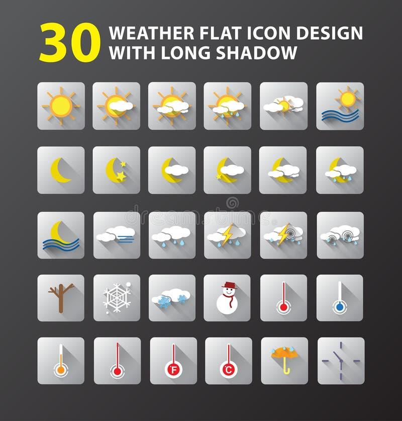 Ontwerp van het weer het vlakke pictogram vector illustratie