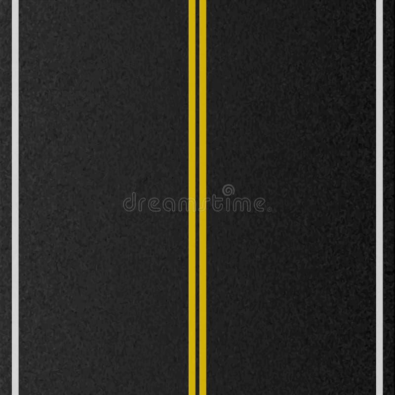 Ontwerp van lege stedelijke weg Het merken van weg, asfalttextuur Vector illustratie royalty-vrije illustratie
