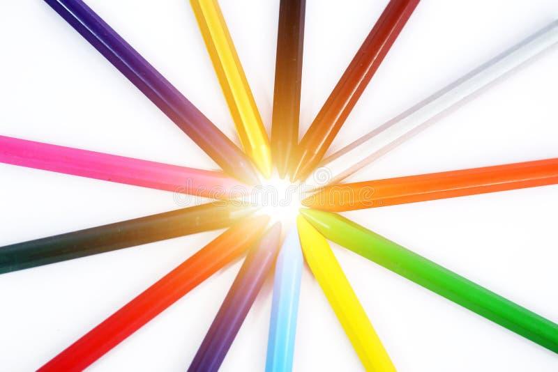 Ontwerp van multi gekleurde schets stock afbeelding