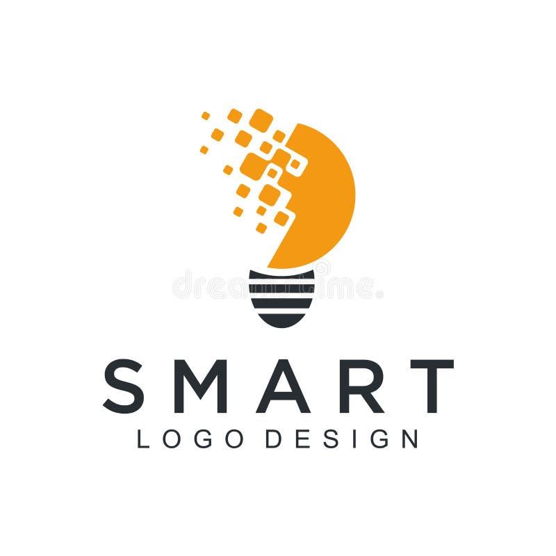 Ontwerp van technologie van het technologieembleem het eenvoudige Vector creatieve abstracte cirkel om het rode moderne pictogram vector illustratie