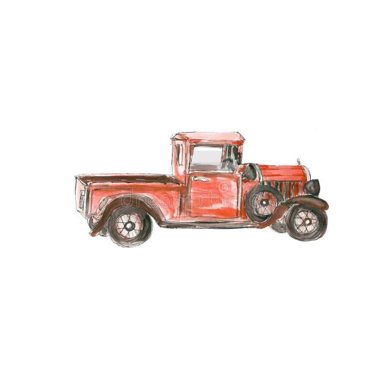 Ontwerp van Victoriaanse stijl het uitstekende die retro auto's hipster steampunk op witte achtergrond wordt geïsoleerd stock illustratie