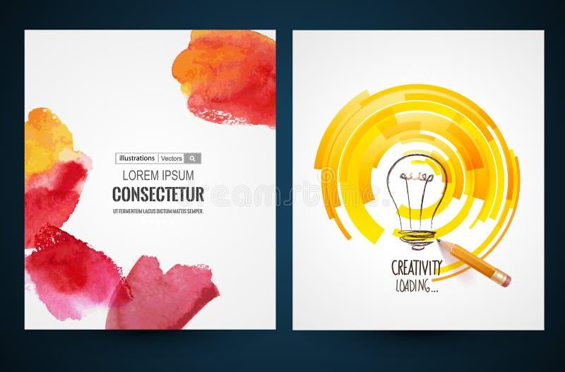 Ontwerp van vooruitgangsbar, het laden creativiteit Vectorweb en mobiel interfacemalplaatje stock illustratie