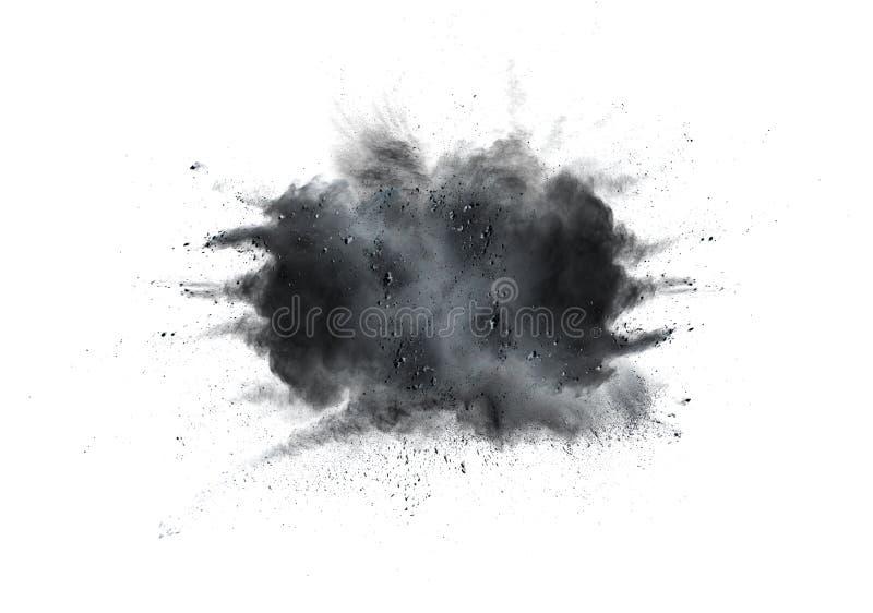 Ontwerp van zwart poeder stock afbeelding