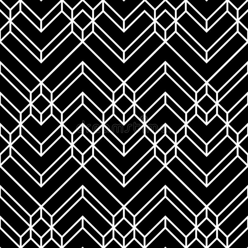 Ontwerp Vector Naadloos Decoratief Art Illustration Pattern Background stock illustratie