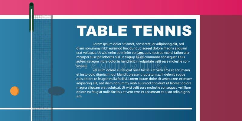 Ontwerp voor pingpong Affiche voor de toernooien Abstracte bac royalty-vrije stock afbeelding