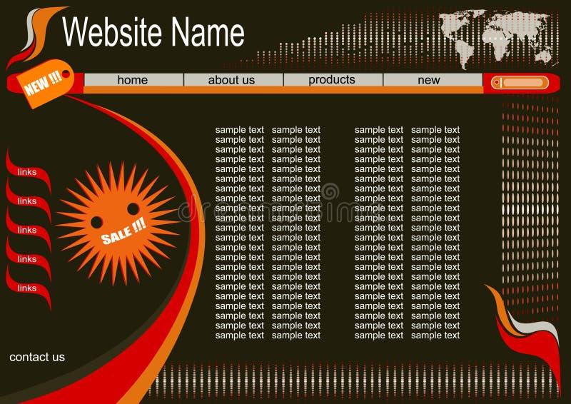 Ontwerp voor website stock illustratie