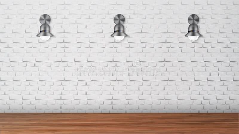 Ontwerp Zwarte Blakers op Witte Bakstenen muurvector royalty-vrije illustratie