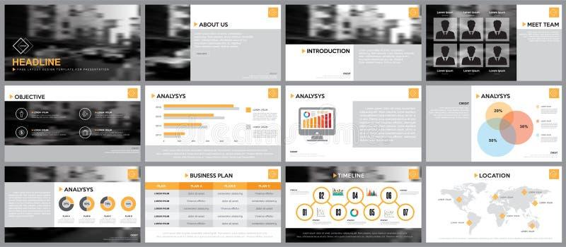 Ontwerpelement van infographics voor presentatiesmalplaatjes stock illustratie