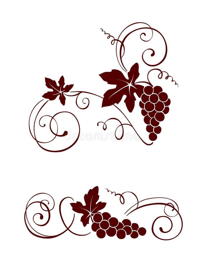 Download Ontwerpelement - Wijnstok Met Wervelingen Vector Illustratie - Illustratie bestaande uit plantaardig, blad: 39107068