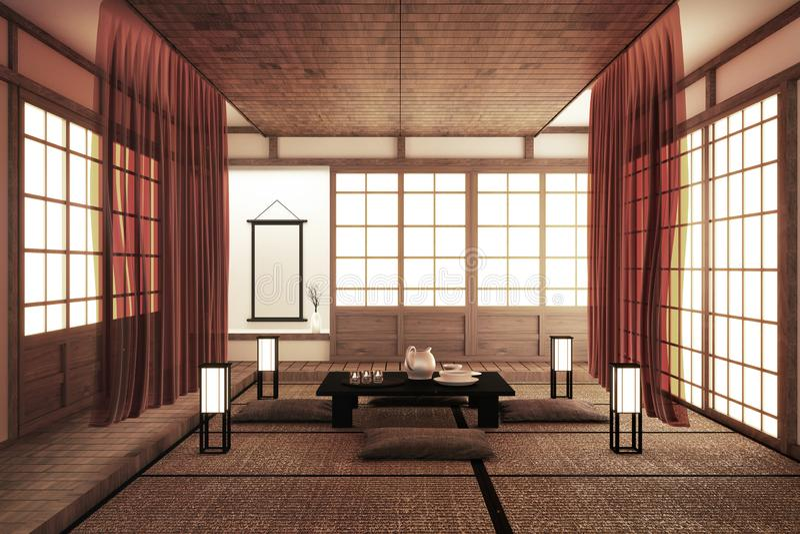 Ontwerpend de mooiste Spot omhoog, ontwierp specifiek in Japanse stijl, lege ruimte het 3d teruggeven stock illustratie